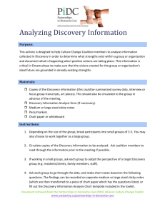 Activity - Analyzing Discovery information