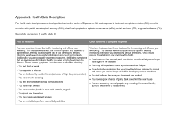 Appendix 2. Health State Descriptions