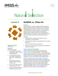 Lesson 2 Goldfish vs. Cheez-its - Integrated Middle School Science