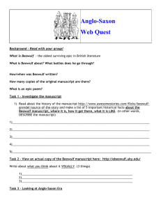 Beowulf Webquest - Scott County Schools