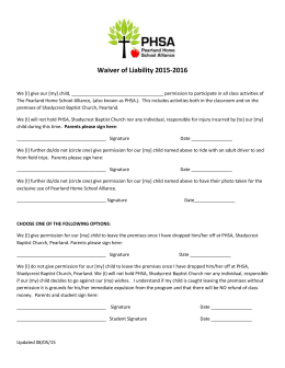 Release Forms 2015-2016 - PHSA - Pearland Home School Alliance