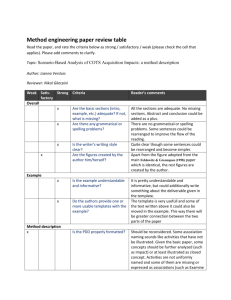 Method engineering paper review table