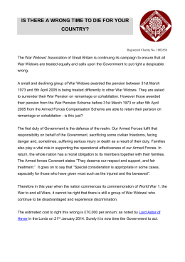 Campaign-Press-Release - The War Widows` Association