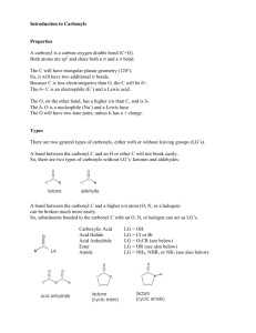 Introduction to Carbonyls
