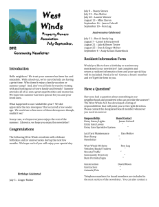 West Winds Website