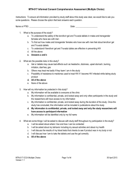 IC Comprehension Assessment