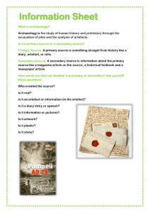 Information Sheet - Pompeii