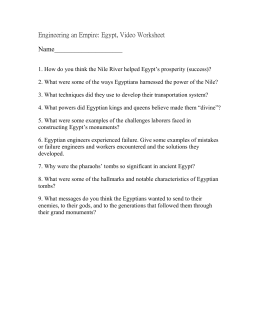 Engineering an Empire: Egypt, Video Worksheet