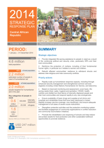 Strategic Response Plan for Central African Republic 2014 (Word)
