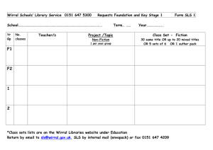 Projects and Class set request form KS1 and KS2