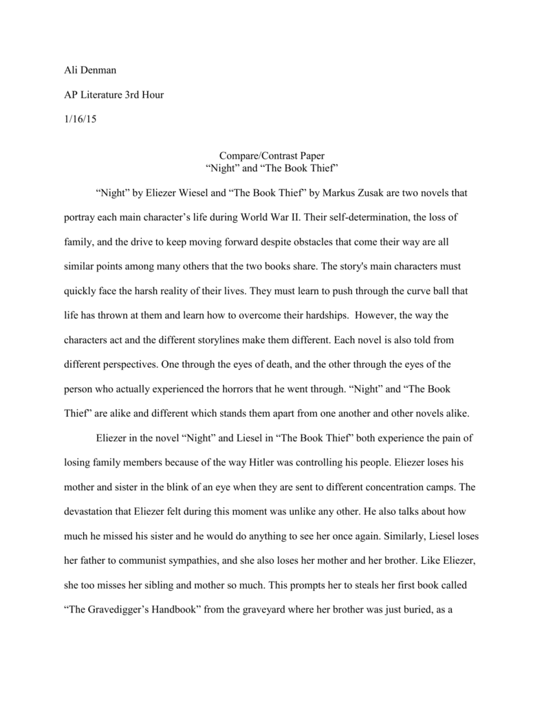 essay compare and contrast two books