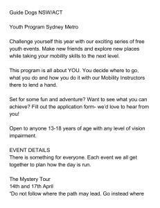 Guide Dogs NSW/ACT Youth Program Sydney Metro Challenge