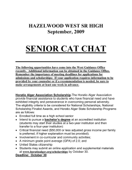 September Cat Chat - Hazelwood School District