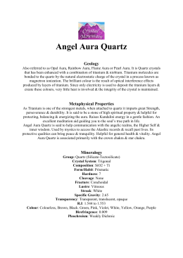 Angel Aura Quartz Geology