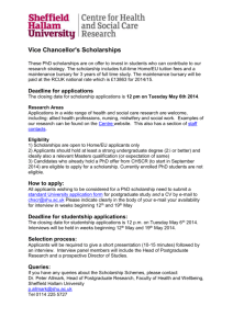 Vice Chancellor`s Scholarships