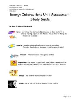 5T1U2A11 Energy Interactions Unit Assessment