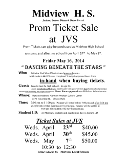 jvs prom poster - Midview Local School District