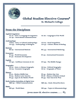 Global Studies Courses and Staff