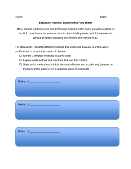Extension Activity: Engineering Pure Water