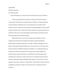 Eveline essay