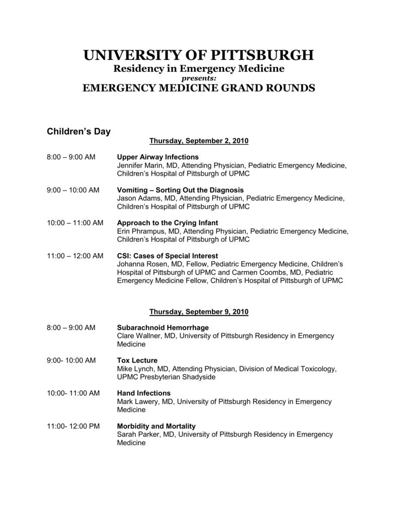 September 2010 - Emergency Medicine