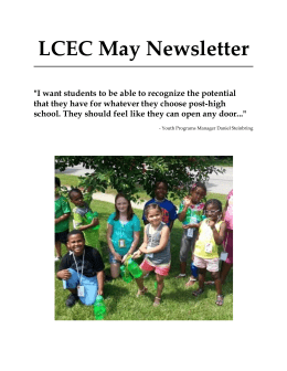 LCEC May Newsletter - Lussier Community Education Center