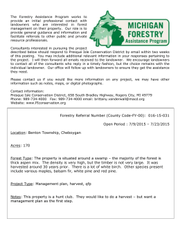 Conservation District Forestry Assistance Program