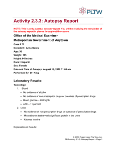 Activity 2.3.3: Autopsy Report - Project Lead the Way: Biomedical