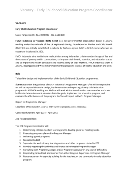 Job Description - FMCH Indonesia