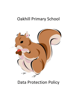 Data Protection Policy - Oakhill Primary School