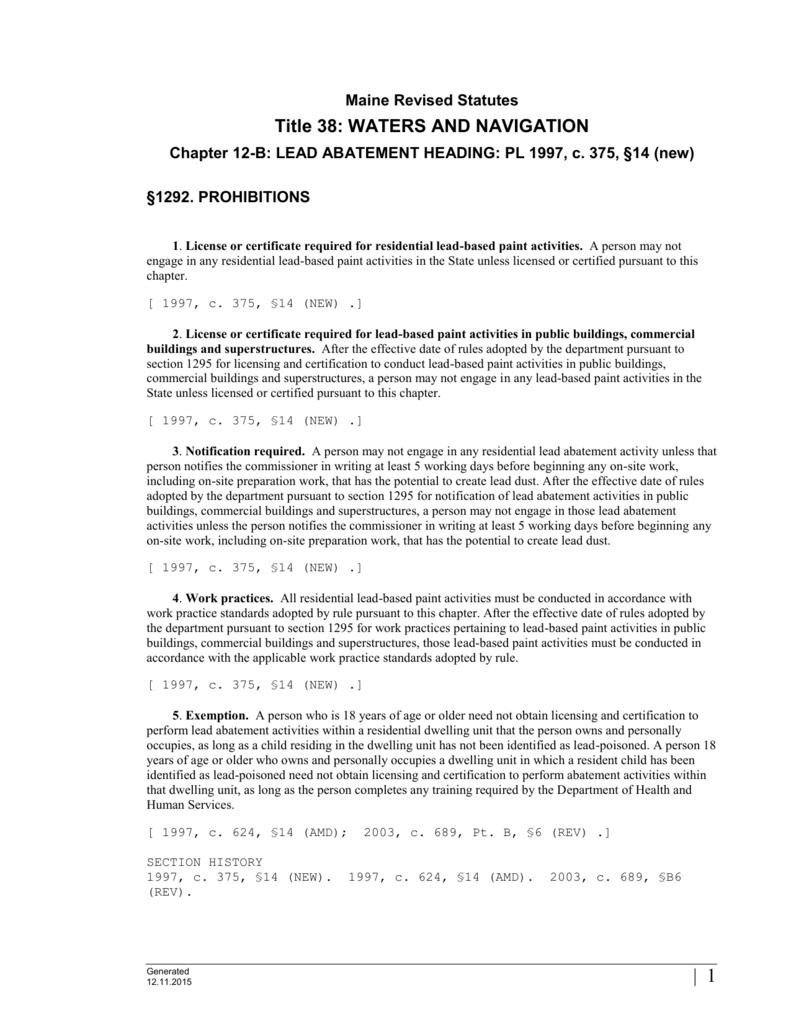 1292 Ms Word Maine Legislature