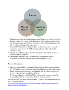 Handout - Trauma, Substance Abuse, Mental Illness