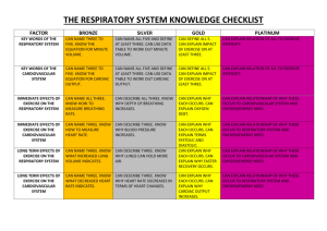 the respiratory system knowledge checklist factor bronze silver gold