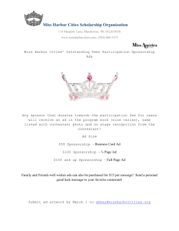 Sponsorship-Info - Miss Harbor Cities & Outstanding Teen