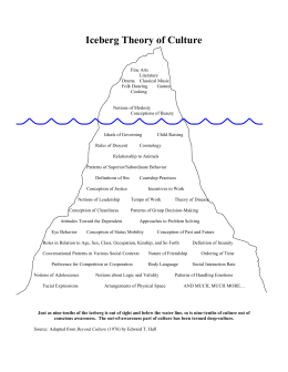 Iceberg Theory of Culture