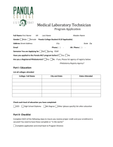MLT application - Panola College