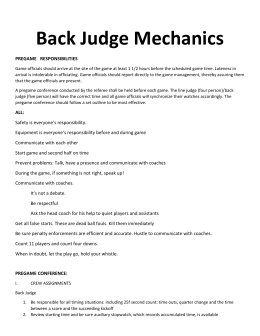 Back-Judge-Mechanics