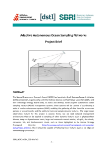 Adaptive Autonomous Ocean Sampling Networks Project Brief