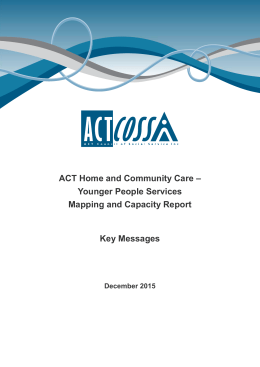 Key Messages - ACT Council of Social Service