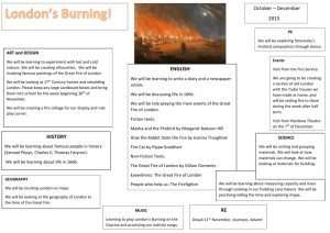 Great Fire of London topic plan for parents