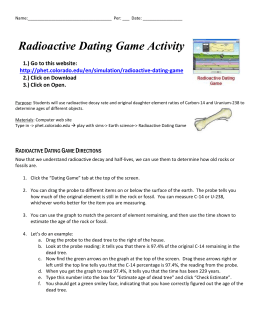 Radiometric dating lab