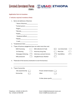 Downloadable Application form to Investees - ethiolivestock