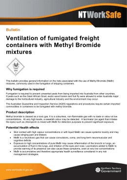 Ventilation of fumigated freight containers with Methyl