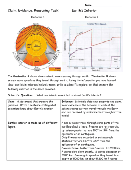 CER Task: Seismic Waves & Earth`s Interior