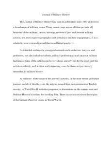 Journal of Military History