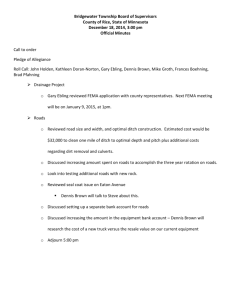 Bridgewater Township Road meeting December 18, 2014 Official