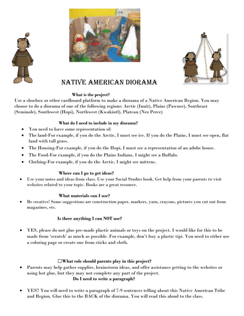Native American Diorama