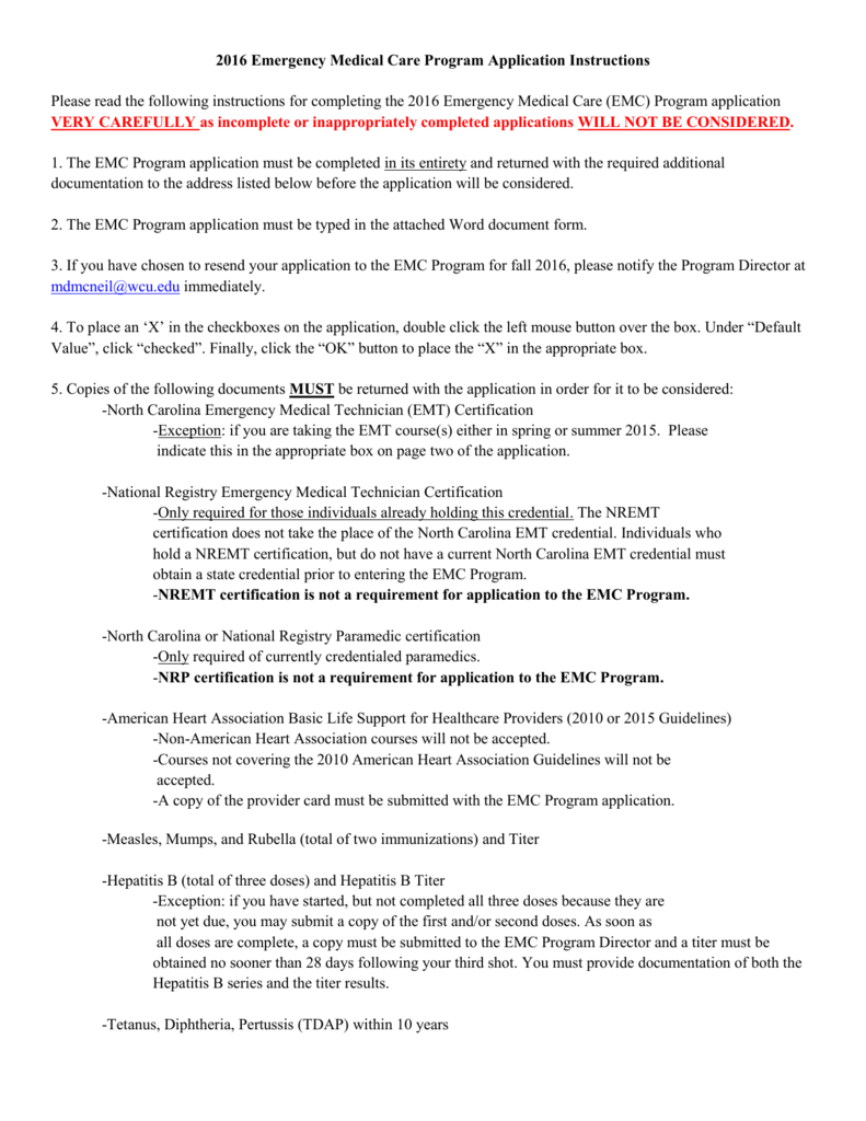 Instructions prior western carolina university 1betcityfo Image collections