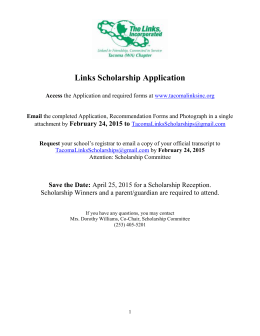 2015 Scholarship Application Packet