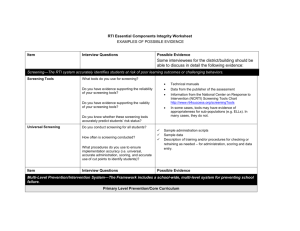 RTI Essential Components Integrity Worksheet